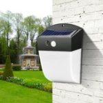 Оригинал 4.8W Солнечная Мощность 24 LED PIR Motion Датчик Настенный светильник для водяной палочки для На открытом воздухе Улица Courtyard Сад
