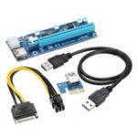 Оригинал USB3.0 PCI-E PCI Express 6-контактный 1X-16X удлинитель для карт-адаптеров Mining Cable