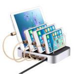 Оригинал Универсальный 4-портовый USB-порт USB-зарядное устройство для зарядки подставки для подставки для мобильного телефона