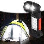 Оригинал 14 + 2 LED Портативная вращающаяся аварийная работа Лампа Батарея Приведенная в действие регулировка яркости Кемпинг Свет с Крюк