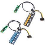 Оригинал VER006C 0,6 м M2 NGFF К 16X SATA 15PIN PCI-E 1X к PCI-E 16X USB 3.0 Кабель Mining Riser Card