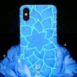 Оригинал FLOVEMEСветящийсясвет3D-рельефЛилиЖесткий ПК Чехол для iPhone X 7/8 Plus