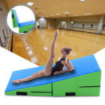 Оригинал 71×29.5x14x4inchОборудованиедлягимнастикиСкладнойтреугольник Tumbling Gymnastics Mat Incline Wedge Ramp