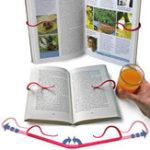 Оригинал Creative Hands Free Book Page Holder Регулируемая закладка для чтения Портативная и складная Relaxed Bookstand Book Поддержка Clip для Office На открытом воздухе Внешнее