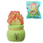 Оригинал Vlampo Slow Rising Squishy Potted Succulents Lucky Растение Домашнее украшение Освобождение от стресса Игрушка 14см