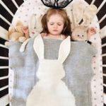 Оригинал Honana HT-33 Симпатичные трикотажные детские одеяла Младенческий кролик Soft Теплая шерстяная пеленая детская ванна Полотенце Lovely Newborn Bedding Props Baby