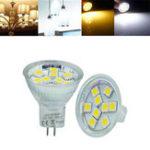 Оригинал MR11 1.2W SMD5050 9LEDs 90LM Теплая белая Чистая белая лампа DC12V