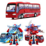 Оригинал Blue / Red Robot Bus Transformer Toy для детей