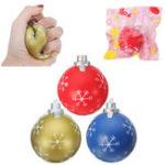 Оригинал PU мультфильм рождественские шары Squishy игрушки 9,5 см медленно растет с подарком коллекции упаковки Soft игрушка