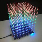 Оригинал DIY WIFI APP 8x8x8 3D Light Cube Набор Красный Синий Зеленый LED MP3 Music Spectrum Electronic Набор