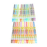 Оригинал 24 Цвета Набор Моющиеся Стирающиеся Вращающиеся Crayon Пастель Art Drawing Set Безопасный детский воск Crayon