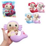 Оригинал Cutie Squishy Mermaid Toys Ароматизированный хлебный торт Super 19CM Soft Медленный рост Оригинальная упаковка