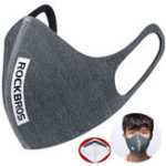 Оригинал ROCKBROS Велоспорт Уши Установленные маски мотоцикл Бег Анти Haze PM2.5 Bicycle Mask Windproof Mask