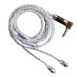 Оригинал Универсальная замена MMCX с заменой серебристого цвета Наушник Кабель 3,5 мм Провод для SE535 846 с микрофоном