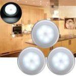 Оригинал 3pcs Батарея Powered PIR Движение Датчик 6 LED Ночь Светло-белый / Теплый белый Лампа для кабинета прихожей
