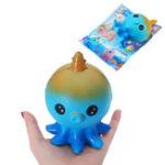 Оригинал SanQi Elan Baby Octopus Squishy Toy Медленный растущий подарочный декор с оригинальной упаковкой