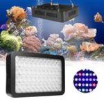Оригинал 165W 55 LED Dimmable Full Spectrum Аквариум Light Лампа для кораллового резервуара рифов