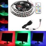 Оригинал 0.5M / 1M / 2M / 3M / 4M / 5M USB RGB 5050 не водонепроницаемый WS2812 LED Свет для телевизора + пульт дистанционного управления Набор DC5V