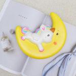 Оригинал Squishy Unicorn Moon Slow Rising 19 * 16 * 5.5cm Коллекция Подарок Декор Игрушка