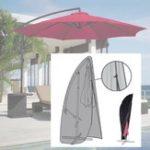 Оригинал ОксфордПолиэстерБрезентЗащитнаякрышкадля солнцезащитного зонтика Водонепроницаемы Пылезащитная крышка черного цвета