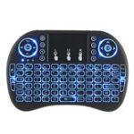 Оригинал I8 Трехцветная задняя французская версия 2.4G Wireless Mini Клавиатура Сенсорная панель Air Мышь