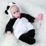 """Оригинал 18 """" Handmade Baby Girl Кукла Силиконовый Винил Reborn Newborn Куклаs + Panda Clothes"""