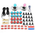 Оригинал Blue Red Dual Player Двойной джойстик DIY Набор для аркадной игры Machine Controller