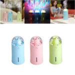 Оригинал Mini 175ml Colorful USB Portable LED Ночь Лампа Проекционный увлажнитель с эффектом свечения сцены