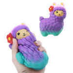 Оригинал Jumbo Squishy Beauty Альпака Овцы 17CM Soft Медленный Rising Stretchy Squeeze Kid Toys