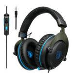 Оригинал Sades R3 Игровой бас Surround Stereo Over Уши Игровая гарнитура с Микрофон регулятором громкости