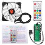 Оригинал 1PCS 120mm RGB Регулируемый Светодиодный Компьютерный вентилятор охлаждения с Дистанционное Управление