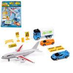 Оригинал 10pcs / Set Airport Playset Самолет Модели самолетов Собранные дети Развивающие игрушки