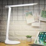 Оригинал Складная Dimmable 48 LED Стол Лампа Настольный светильник для глаз для чтения Спальня AC85-265V