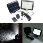 Оригинал Солнечная Мощность 56 LED PIR Движение Датчик Сад Настенный светильник На открытом воздухе Сад Лампа