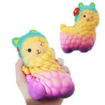 Оригинал Jumbo Squishy Kawaii Beauty Alpaca Sheep 17CM Soft Медленный рост Stretchy Squeeze Kid Toys