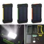 Оригинал Bakeey F5 10000mAh Солнечная Панель LED Двойные порты USB DIY Банк питания Чехол Батарея Комплекты зарядных устройств Коробка