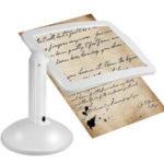 Оригинал Handsfree 3X Reading Full-page Magnifier 2LED Увеличивающая Лупа Очки Настольный Настольный Настольный Лампа Light Magnifier