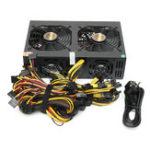 Оригинал 220V 3300W Miner Chassis Power Supply Coin Miner Mining Rig Machine для 12 GPU 6 + 2p * 12