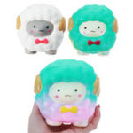 Оригинал Jumbo Squishy Bow Big Sheep Alpaca Soft Slow Rising Stretchy Squeeze Kid Toys Смягчает стресс-подарок