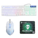 Оригинал Rainbow Backlight USB Wired Gaming Клавиатура 2400DPI LED Мышь Комбинация с Мышь Pad