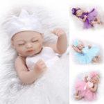 Оригинал NPK 10 дюймов 26 см Reborn Baby Soft Силиконовый Кукла Handmade Lifeike Baby Girl Куклаs Play House Toys День рождения