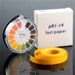 Оригинал Универсальные испытательные полоски PH для рулонов Диапазон 1-14 / 5,5-9,0 Индикаторная бумага с цветовой схемой