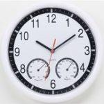 """Оригинал 10 """" 10 дюймов Бесшумный Современная стена Часы С Термометр и гигрометром для гостиной Home Kitchen Office"""