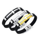 Оригинал 10mm Мода титана стали браслет браслет мужчин браслет браслет