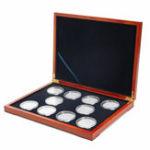 Оригинал Rectangle Oak Coin Storage Чехол 10 Монеты Органайзер Держатель коллекции NGC PCGS Дисплей Коробка