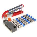 Оригинал F-Type Compression Crimper Hand Инструмент Ротационный коаксиальный резак для кабеля Обжимной Коннектор