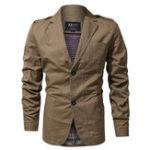 Оригинал Epaulet Военный Весенние осенние хлопчатобумажные куртки Blazer