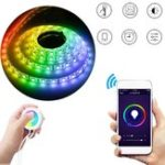 Оригинал 2M Водонепроницаемы US Plug Smart Wifi RGB LED Strip Light Touch APP Control для Alexa Главная страница Google DC12V