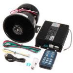 Оригинал DC12V400W8ЗвукГромкийАвто Предупреждающая сигнализация Полиция Siren Horn PA Speaker Дистанционный
