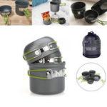 Оригинал 2-3человекасантипригарнымалюминиевымнабором посуды Пот-чаша На открытом воздухе Поход Кемпинг Кулинария Посуда для пикника